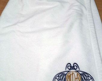Ladies Personalized Monogrammed Shower Wrap Terry Cloth Wedding Customized Spa Wrap Dormitory Spa Wrap Shower Wrap