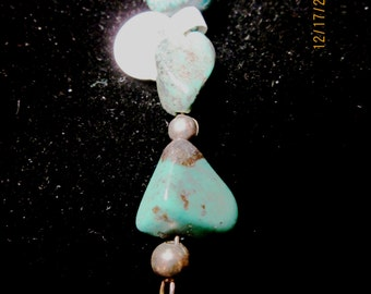 Dodad Turquoise silver beads 35ct