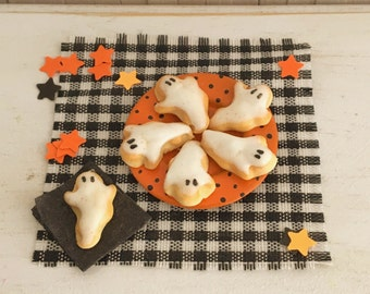 Miniature Halloween Ghost Cookies
