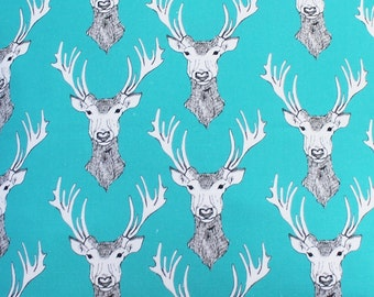 Stag Fabric - upholstery fabric - curtain fabric -fabric by the metre  - stag - stag curtains - stag decor - cotton fabric - fat quarter