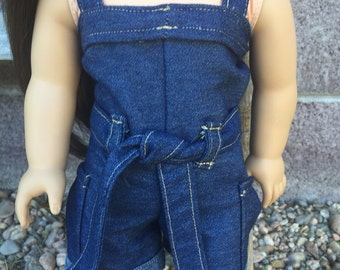 SALE! American girl doll denim romper