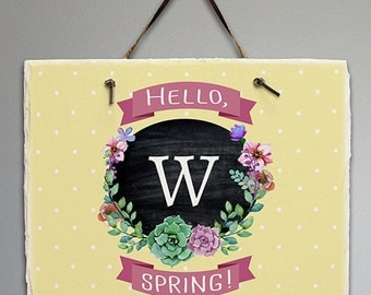 Personalized Springtime Floral Welcome Slate -gfy631100117