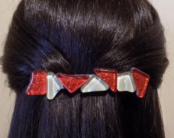Large Barrette Red /Womens Gift