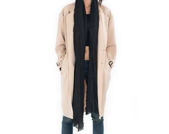 SALE 50 % !! Was 150 now 75 >  Long coat / Trench coat  / Womens trench coat / Autumn Fall Winter Coat : Nature Touch Collection