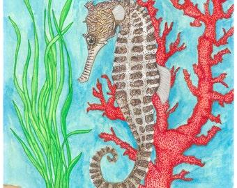 Seahorse Original Painting