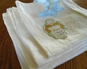 6 Irish Damask Napkins / Vintage Cotton Damask Napkins / Gold Medal Dinner Napkins / Linen Napkins /Luncheon Napkins / Creamy White Cotton /