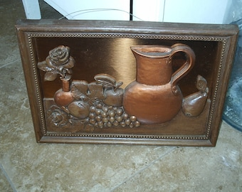 1920's Vintage (Almost Antique)  Copper Picture.  Local Pick Up Only! Antique Store Brooksville, FL