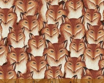 Wild Woods - Fox Heads by Daphne Brissonnet from Windham Fabrics