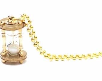 Hourglass chain functional hourglass watch golden