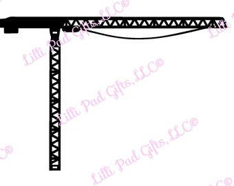 Flat Top Crane - Cut File - Instant Download - SVG Vector JPG for Cameo Silhouette Studio Software & other Cutter Machines