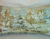Toile Bosporus Strait Pillow Cover, Flax, Decorative Pillow, Accent Pillow