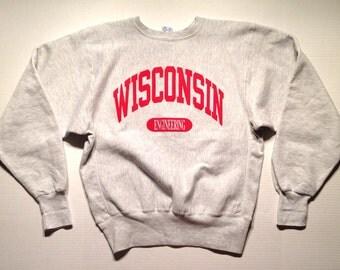 Late 80's, early 90's Champion reverse weave Wisconsin Engineering sweatshirt, large