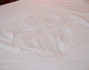 Antique Duvet Cover Feather Bed Cover White European Comforter Cover Bed Linens