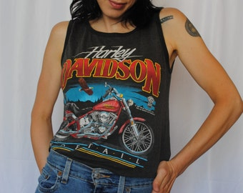 Official vintage Harley Davidson thin tank top Soft tail soft thin worn in
