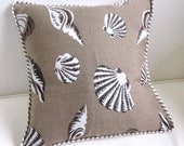 Lee Jofa Solarium fabric with ticking flange  decorative pillow  includes insert