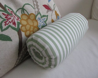 green stripes lumbar accent throw lumbar bolster pillow