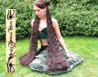 HAIR FALLS RENAISSANCE wedding & Reenactment wig 39 inches long Custom Color Medieval hair extensions Tribal Fusion Belly Dance hair piece
