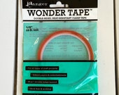 Wonder tape, 1/4 in.  double-sided, heat resistant clear tape by Ranger, 15 ft. roll