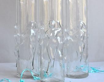 "Vintage ""La Femme"" Libbey Nude Booby Glasses - Set 3"