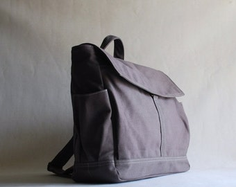 Back To School SALE - 30% Hugo Backpack in Grey, Laptop Backpack, Satchel, Rucksack, Diaper Bag, School Backpack, Shoulder Bag, Hippie Bag