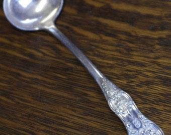 antique king paten silver plate sauce ladle