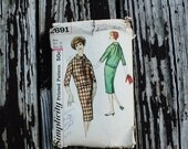 Flash Sale 40%OFF Simplicity 2691 1950s 50s Jacket Wiggle Skirt Suit Vintage Sewing Pattern Size 16 Bust 36