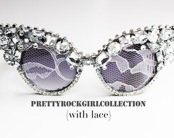 Vintage Classic Retro Cateye Sunglasses with Encrusted Rhinestones, Embellished sunglasses, crystal sunglasses, vintage cateye sunglasses