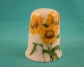 Thimble Bone China with Yellow  Flowers