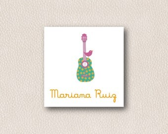 PDF or Printed Gift Tags - Personalized Gift Cards - Calling Cards - Girl Gift tags