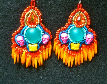 EBWC October Challenge In Living Color Earrings