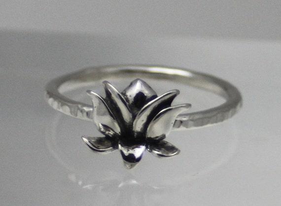 sterling silver lotus ring lotus ring eco
