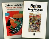 Two Great African Novels, Things Fall Apart by Chinua Achebe - Weep Not Child by Ngugi, 1987 Trade Paperbacks Published by Heinemann