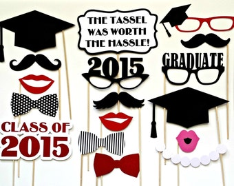 Class of 2016 . Graduation Photo Booth Props . Set of 17 . Graduate Photo Props