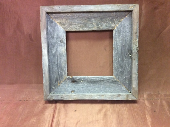 22x22 standard barn wood picture frame sold by bluebarnfleamarket