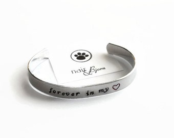 Forever in My Heart Adjustable Bracelet - Rescue jewelry, animallovers, doglovers, catlovers, crossed the rainbow bridge, beloved pet