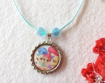10 Shimmer Shine  Necklaces Party Favors.