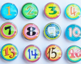 Magnetic Numbers | Calendar | Colorful Magnets | Perpetual Calendar | Planner Numbers | Colorful Rainbow Number Magnets | Fun Numbers