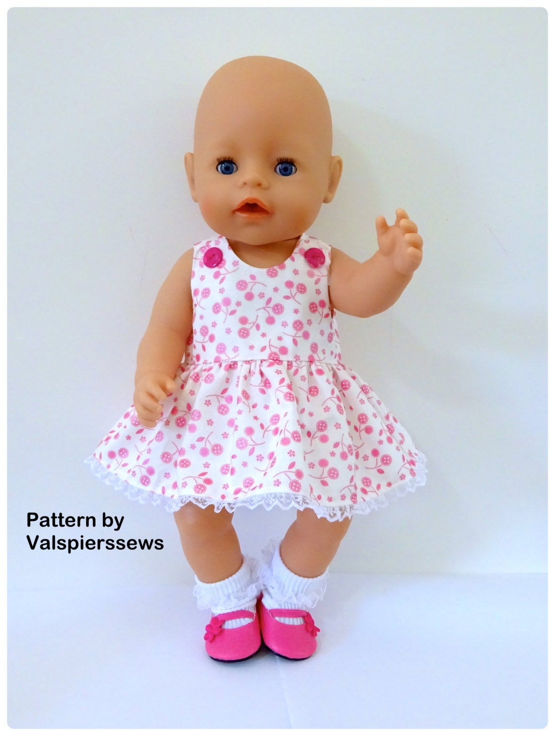 Baby Doll Pinafore Valspierssews Doll Clothes Pattern Fits