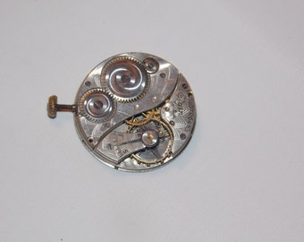 Antique 25mm Etched Pocket Watch Movement