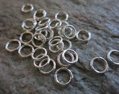 Sterling Silver Jumprings, 7mm OD, 18G, 20 Pieces, Open Jumprings, Ready To Ship