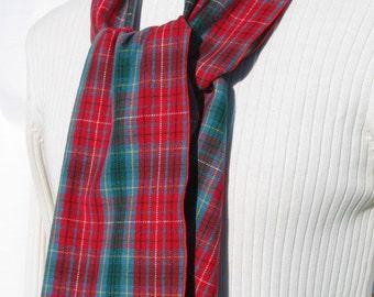 Beautiful British Columbia Tartan Scarf, BC Tartan scarf, Made In Canada Scarf