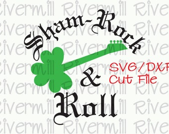 SVG DXF Shamrock And Roll Cut File