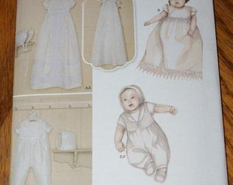 New Simplicity Baby Christening pattern 8024 Size xxxs to M