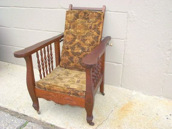 vintage morris chair antique morris chair child s oak original velvet 3249