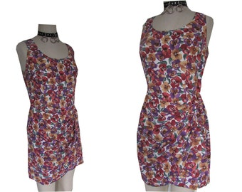 90's Grunge Rampage Mall rat Floral Wrap Sarong Style Bodycon Dress