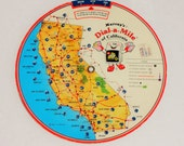 Vintage Murray's Dial-a-Mile of California Map Mileage Calculator