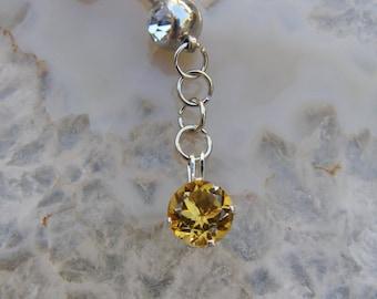 Navel Ring - Belly Ring - Jewelry - Lemon Drop - Lemon Quartz