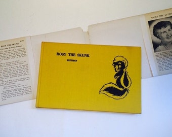 "SALE - First Edition Signed ""Rosy the Skunk"" Children's Book by Ernestine Beckwith Heitman - Vintage Children's Book"