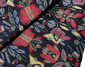 Thai Woven Fabric Tribal Fabric Native Fabric by the yard Ethnic fabric Aztec fabric Craft Supplies Woven Textile 1/2 yard Black (WF69)
