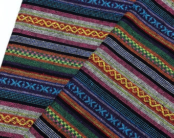 Thai Woven Fabric Tribal Fabric Cotton Native Fabric by the yard Ethnic fabric Aztec fabric Craft Supplies Woven Textile 1/2 yard (WF98)